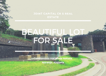 Venta de Lote en Exclusivo Condominio Hacienda Natura en Naranjo