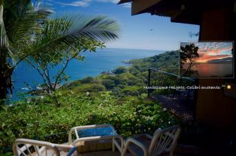 Colibri mejor vista al mar cabinas en Montezuma Costa Rica