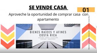 Se vende Casa con apartamento