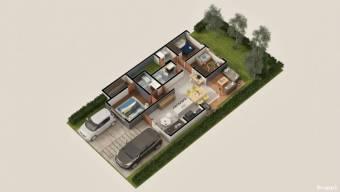 se vende casa moderna con espacioso patio en Turrucares de Alajuel