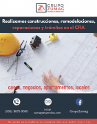 Servicios de construcción, remodelación, reparación y trámites ante el CFIA