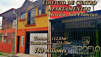 #EDIFICIO DE CUATRO APARTAMENTOS EN VENTA #San_Francisco #Heredia #40103af