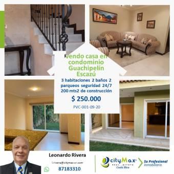Vendo casa en Condominio Guachipelín de Escazúy