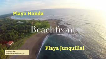 Incredible 5 beachfront titled hectares at Playa Junquillal