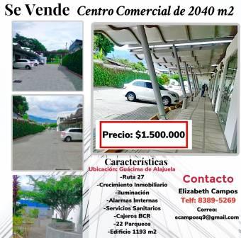 Shopping center located in Guácima de Alajuela, 500 meters from Route 27., $ 1,500,000, 4, Alajuela, Alajuela