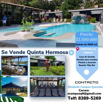 FIFTH OF 5000m2 FOR SALE, IN OROTINA