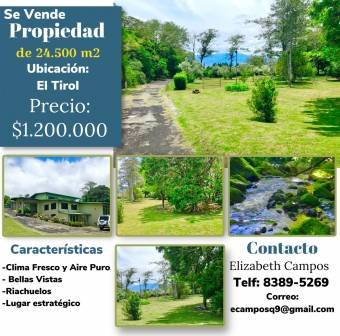 Property of 24,500M2 for sale, it is the only dream, located in a strategic place