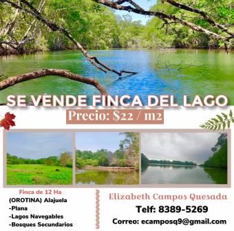 Se Vende Fina del Lago ubicación (Orotina) Alajuela de 12 HA