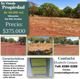OPPORTUNITY FOR SALE FOR DEVELOPERS PROPERTY OF 40,000 m2