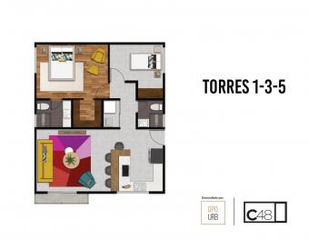 ¡Un solo piso para vos! 2 habitaciones 2 baños