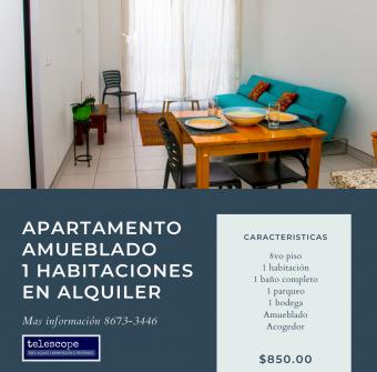Apartamento Amueblado alquiler en Lagunilla Hab