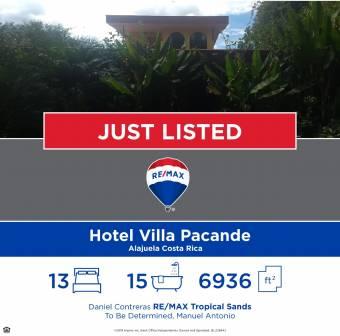Se Vende Hotel Villa Pacande, $ 675,000, 15, Alajuela, Alajuela